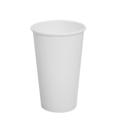 16oz Paper Hot Cups – White (90mm)