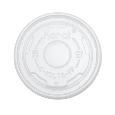 4oz PP Food Container Flat Lids (76mm)