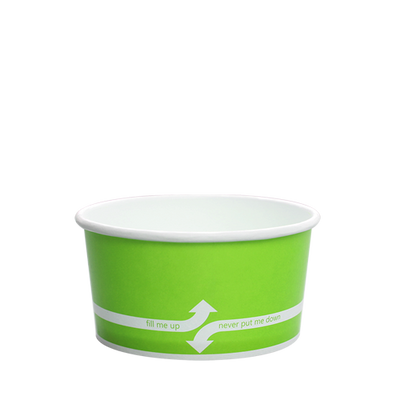 6oz Hot/Cold Paper Food Containers – Green (96mm)