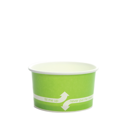 5oz Hot/Cold Paper Food Containers – Green (87mm)
