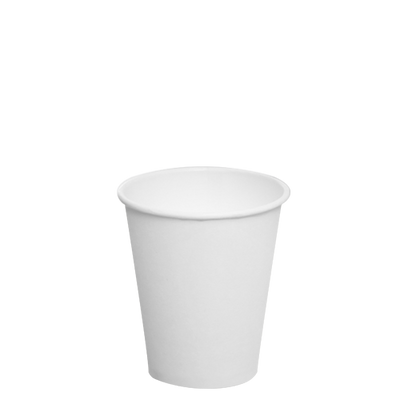 8oz Paper Hot Cups – White (80mm)