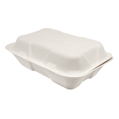 "9""x6"" Bagasse Hinged Containers"
