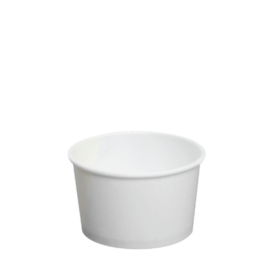 4oz Hot/Cold Paper Food Containers – White (76mm)