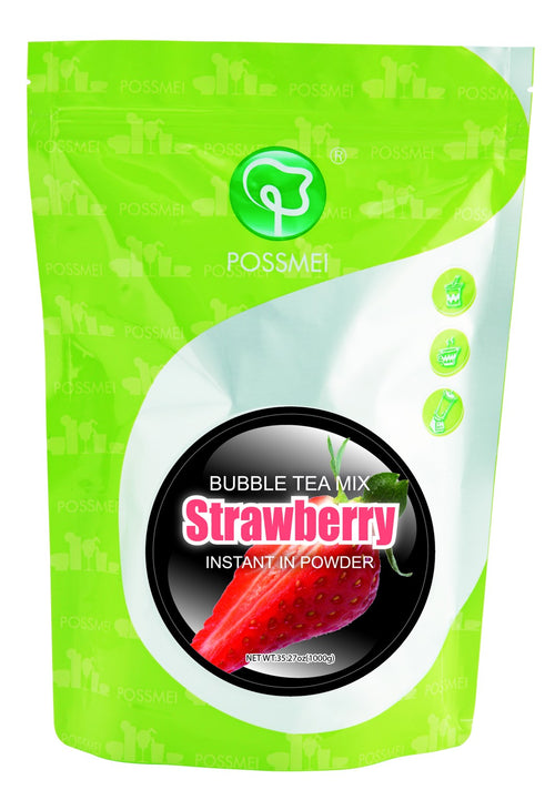 Strawberry Boba Bubble Tea Powder Mix