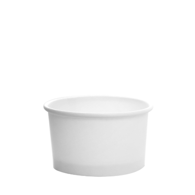 5oz Hot/Cold Paper Food Containers – White (87mm)
