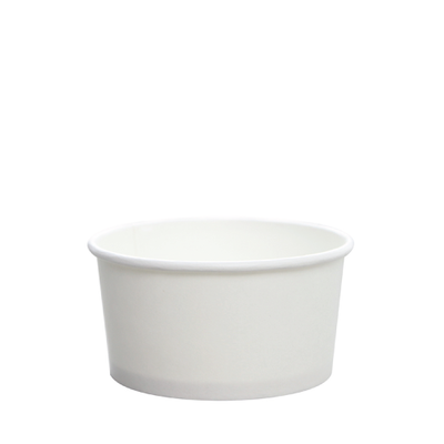 6oz Hot/Cold Paper Food Containers – White (96mm)