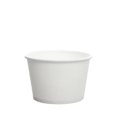 8oz Hot/Cold Paper Food Containers – White (95mm)