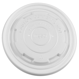12-16oz Compostable Paper Food Container Flat Lids (114.6mm)