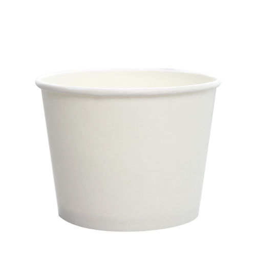 12oz Hot/Cold Paper Food Containers – White (100mm)