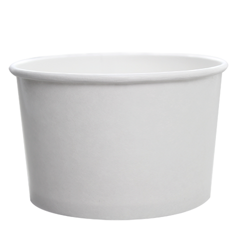 2oz Hot/Cold Paper Food Containers – White (51mm)