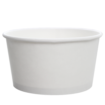 24oz Hot/Cold Paper Food Containers – White (142mm)