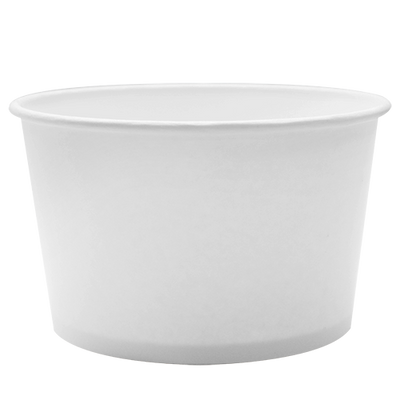 28oz Hot/Cold Paper Food Containers – White (142mm)