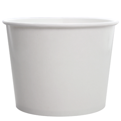 32oz Hot/Cold Paper Food Containers – White (142mm)