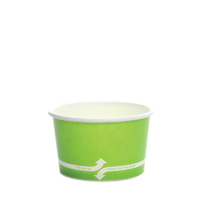 4oz Hot/Cold Paper Food Containers – Green (76mm)