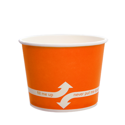 16oz Hot/Cold Paper Food Containers – Orange (112mm)