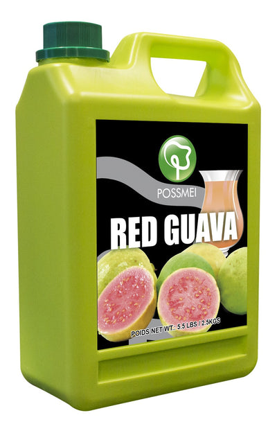 Red Guava Boba Bubble Tea Syrup