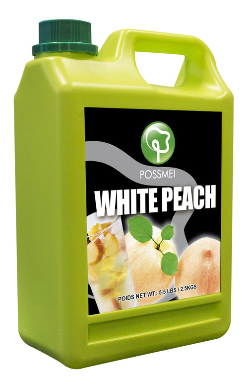 White Peach Boba Bubble Tea Syrup