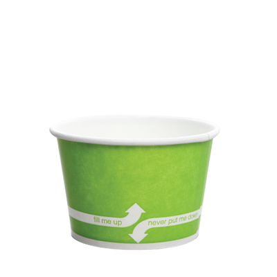 8oz Hot/Cold Paper Food Containers – Green (95mm)