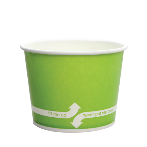 12oz Hot/Cold Paper Food Containers – Green (100mm)