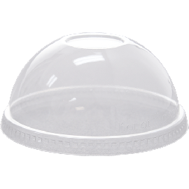 98mm PET Dome Lids – No Hole or Opening
