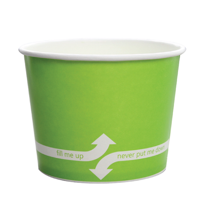 16oz Hot/Cold Paper Food Containers – Green (112mm)