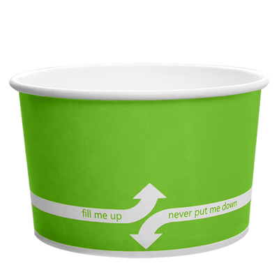 20oz Hot/Cold Paper Food Containers – Green (127mm)