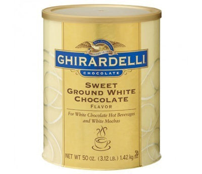 Ghirardelli Sweet Ground White Chocolate Gourmet Flavored Powder