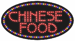 Chinese Food LED Sign (15″ x 27″)