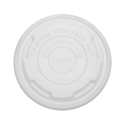 8oz Paper Food Container Flat Lids (90.8mm)