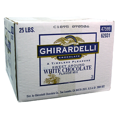 Box: Ghirardelli Sweet Ground White Chocolate Powder