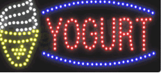Yogurt LED Sign (11.75″ x 23.5″)