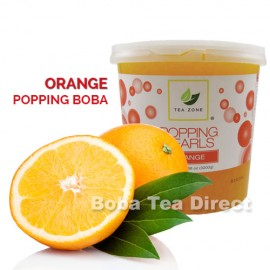 Orange Popping Bursting Boba
