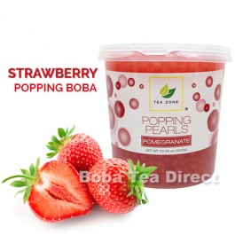 Strawberry Popping Bursting Boba