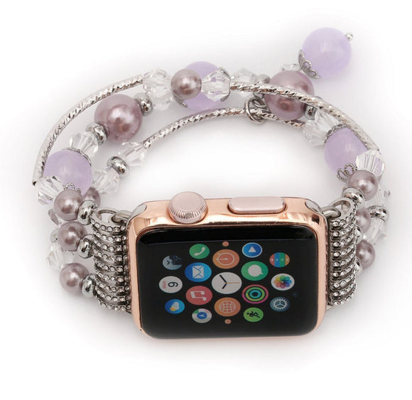 CRESTED Luxury Agate Women's watch band for apple watch  1/2/3