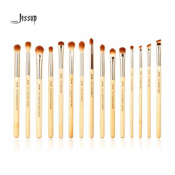 15pcs Beauty Bamboo Professional Makeup Brushes