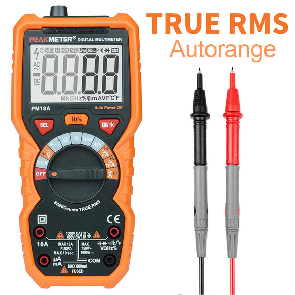 PEAKMETER PM18A multimeter digital multimeters tester profissional Voltage Capacitance Frequency Temperature hFE NCV Line Tester