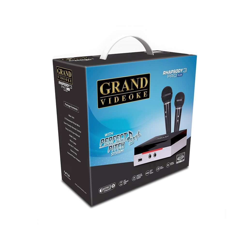 GRAND VIDEOKE Rhapsody 3 Pro Plus (TKR-343MP+) - 2x Wired Mics