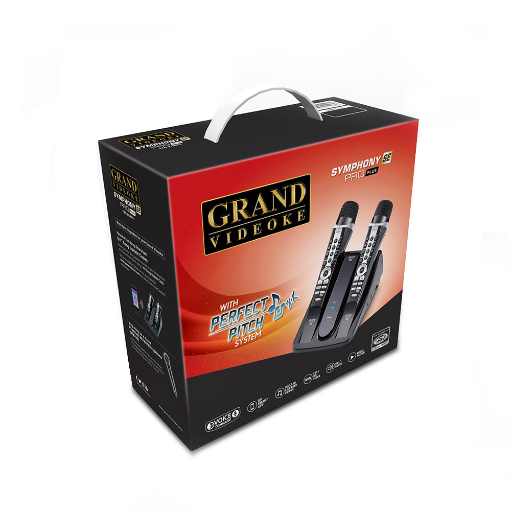 GRAND VIDEOKE Symphony SE Pro Plus (TKR-372MP+ SE) - 2x Wireless Mics