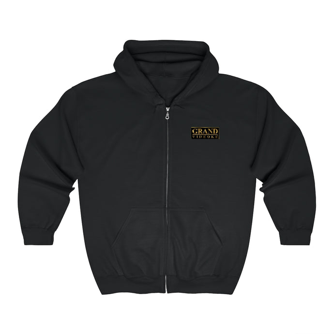 Grand Videoke Logo Unisex Zip Up Hoodie