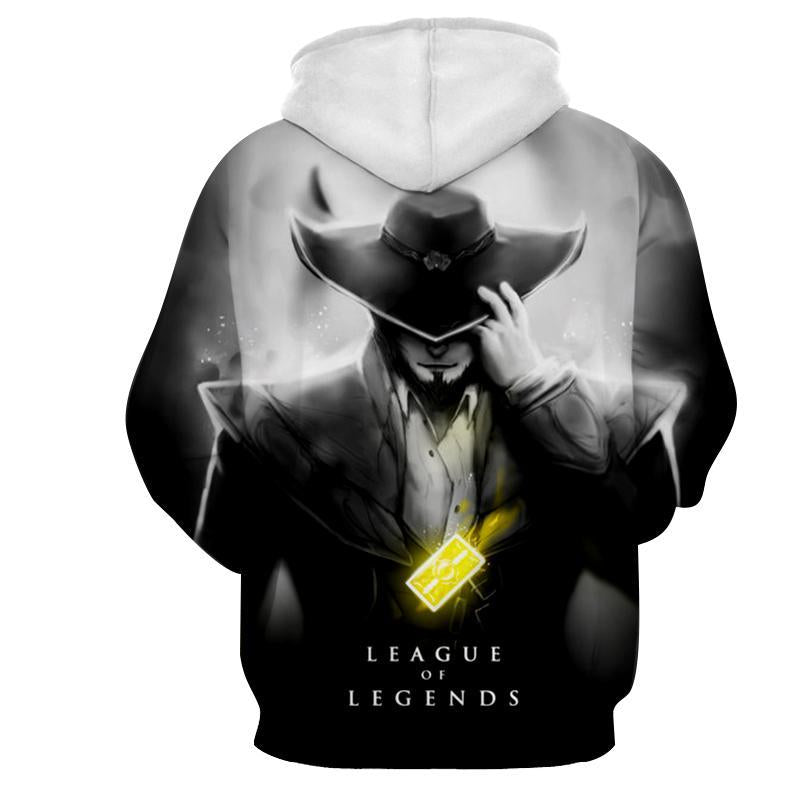 League Of Legends- Twisted Fate : Printed Hoodie - Anime Wise