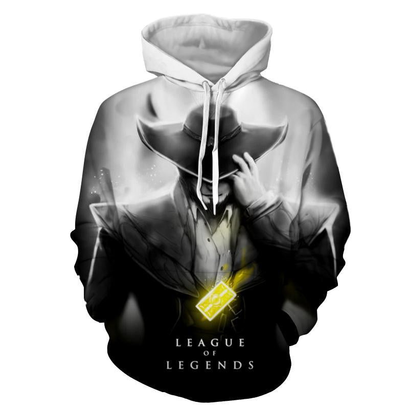 League Of Legends- Twisted Fate : Printed Hoodie