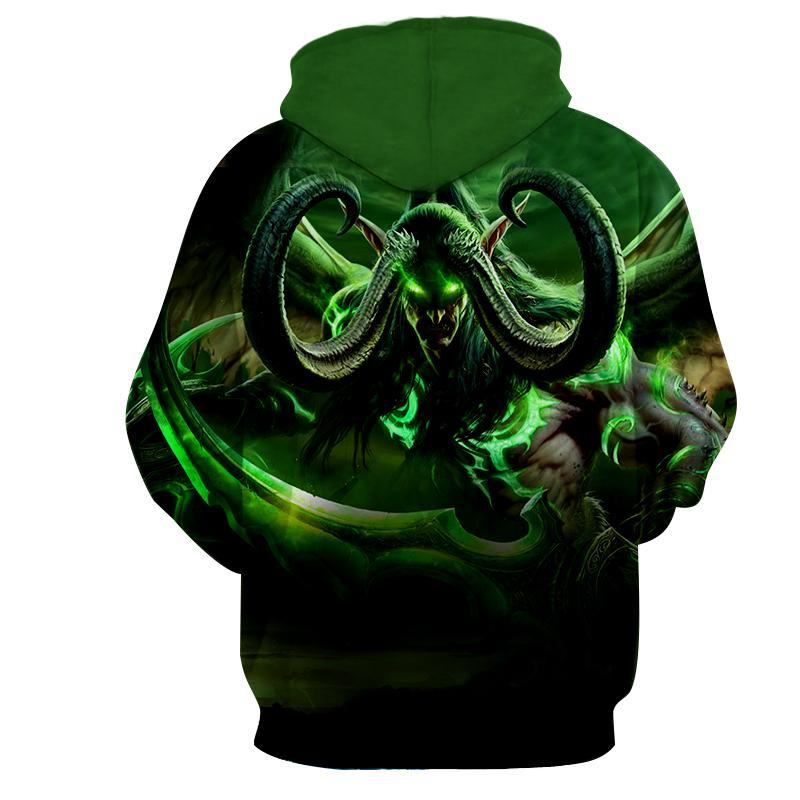 World of warcraft - Illidan Stormrage 2 : Printed Hoodie - Anime Wise
