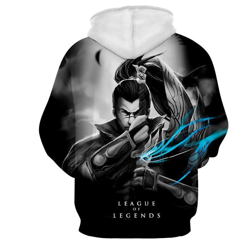 League Of Legends- Xin Zhao : Printed Hoodie - Anime Wise