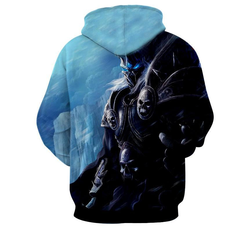 World of warcraft - Lich King 2 : Printed Hoodie - Anime Wise