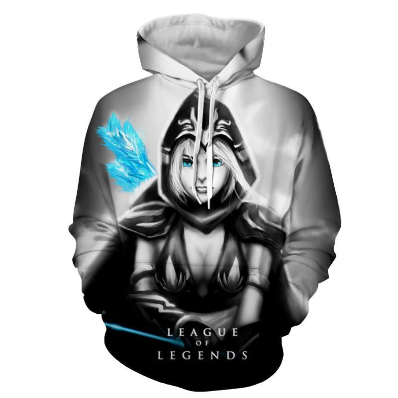 League Of Legends- Ashe : Printed Hoodie