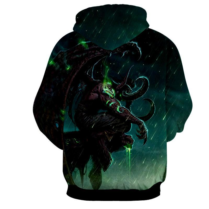 World of warcraft - Illidan Stormrage 3 : Printed Hoodie - Anime Wise