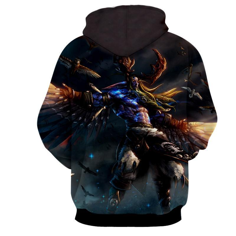World of warcraft - Malfurion Stormrage : Printed Hoodie - Anime Wise