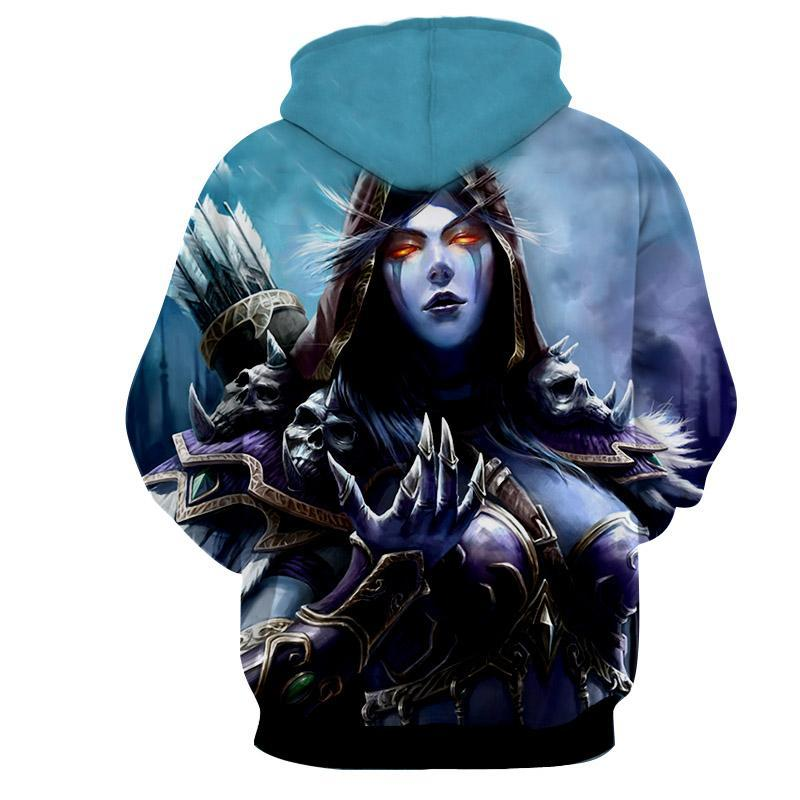 World of warcraft - Sylvanas Windrunner : Printed Hoodie - Anime Wise
