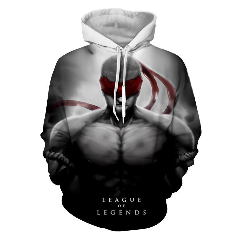 League Of Legends- Lee Sin : Printed Hoodie