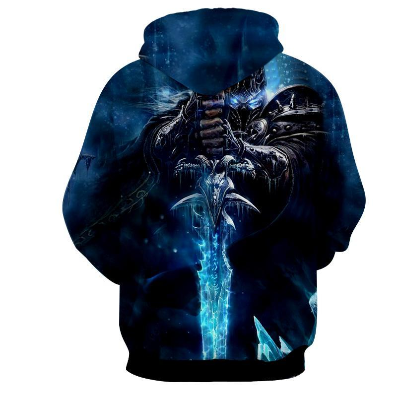 World of Warcraft - Lich King : Printed Hoodie - Anime Wise